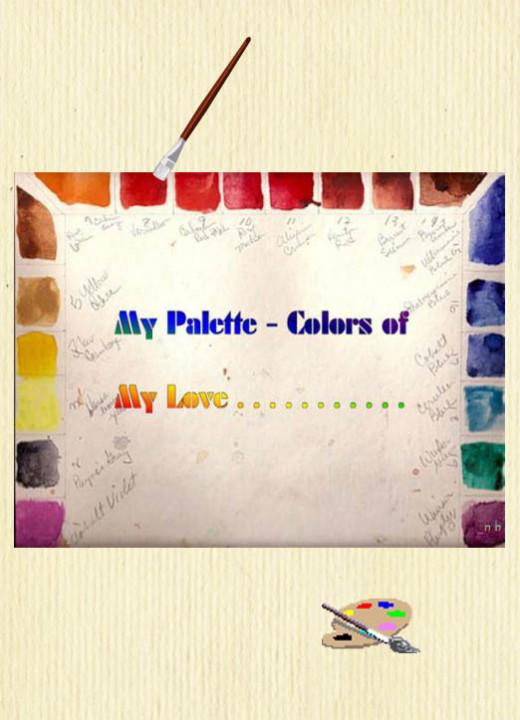 My watercolor palette colors arrangement.