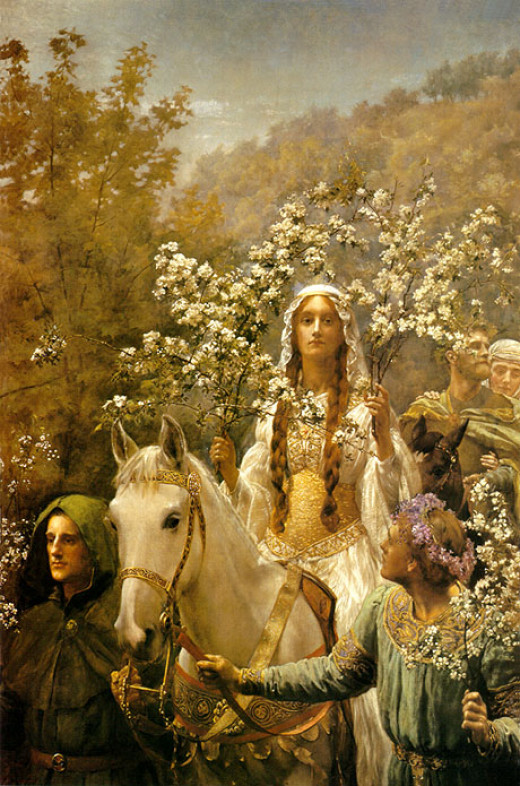 Queen Guinevere's Maying. Oil on canvas 1900 by John Collier (1850–1934)