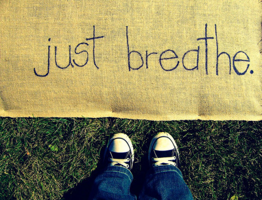 Breathing deeply can help calm your anxiety attacks.
