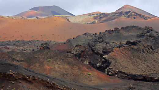 The colours of Timanfaya - the view from the camel trek