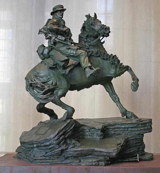 Monument to 911 horse soldier- Google images