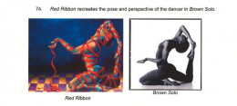 "Lois Greenfield photo (right) and ""Red Ribbon"" by Jill Pankey (left)"