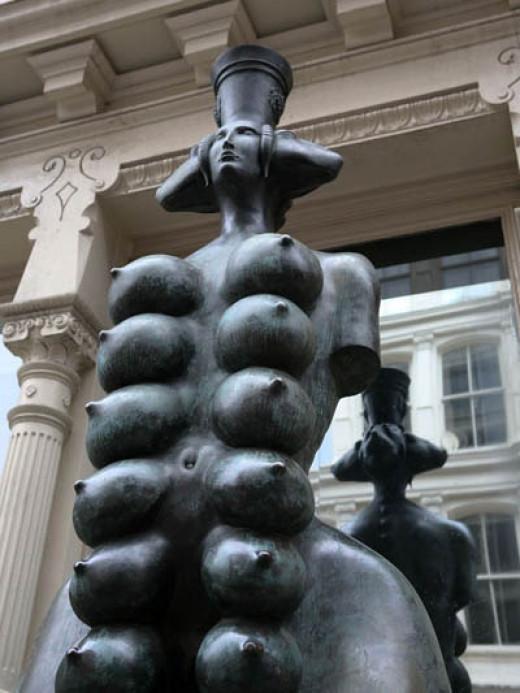 Cybele, Phrygian Goddess of Fertility; Russian artist, Mihail Chemiakin,  bronze sculpture