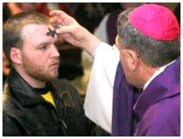 Ash Wednesday mark of the cross