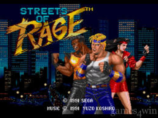 The title page for Streets Of Rage.