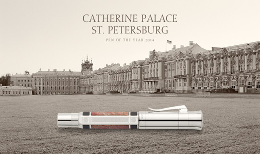 Platinum-plated Pen of the year 2014 pictured with Catherine Palace