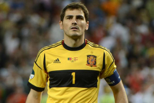 Iker Casillas with Spain