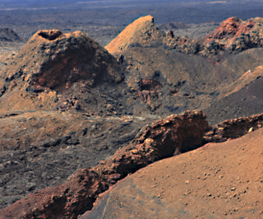 The barren yet very dramatic landscape of Timanfaya National Park, Lanzarote