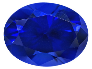 This is a lab-created sapphire from www.jewelrytelevision.com Lab Created Blue Sapphire 1.50ct 8x6mm Oval Item: S14V86A Valued: $12.99