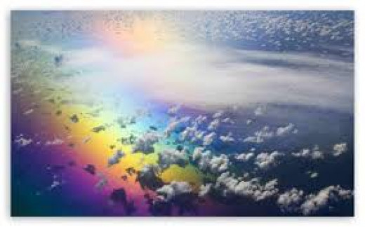 The rainbow from which Hope descended so long ago