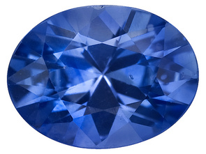 This is a lab-created sapphire from www.jewelrytelevision.com 1.00ct 8x6mm Oval Ceylon Blue Sapphire Item: 88V8604AD Valued: $419.99
