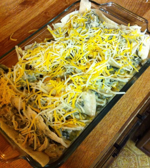 Sprinkle The Cooked Mixture and Sprinkle Cheese