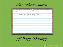 The Three Styles of Story Plotting