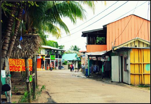 Main street Placencia