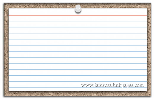 A blank index card offers so many possibilities!