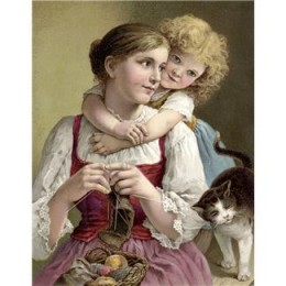 Knitting is calming, productive, and attractive - just try to shake the children and the cat once you start!