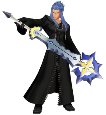 Saix with his Claymore.