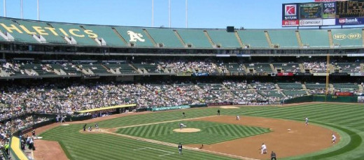 Oakland Alameda County Stadium; Home of the Oakland Athletics