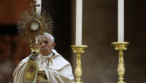 Pope Francis with Sun Blaze.