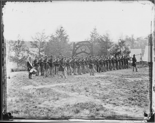 Company A, 30th PA Volunteers at Parade