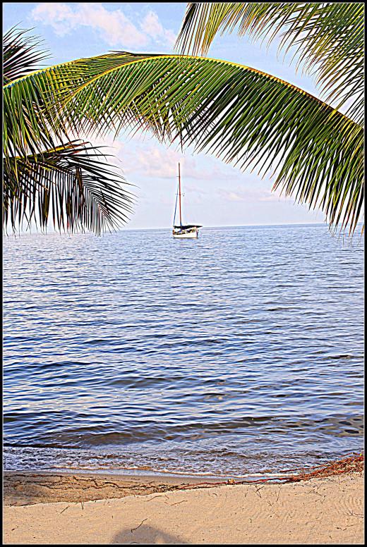 Yacht on the Caribbean