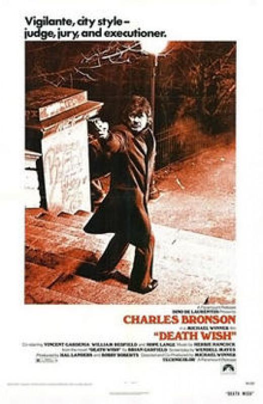 """Original """"Death Wish"""" (1974) Movie Poster"""