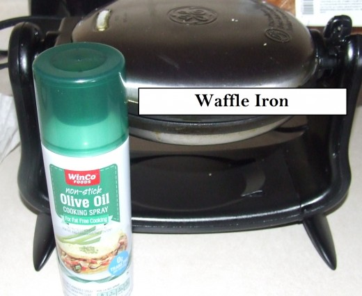 Use A Waffle Iron Spray lightly with cooking oil to prevent waffle from sticking.