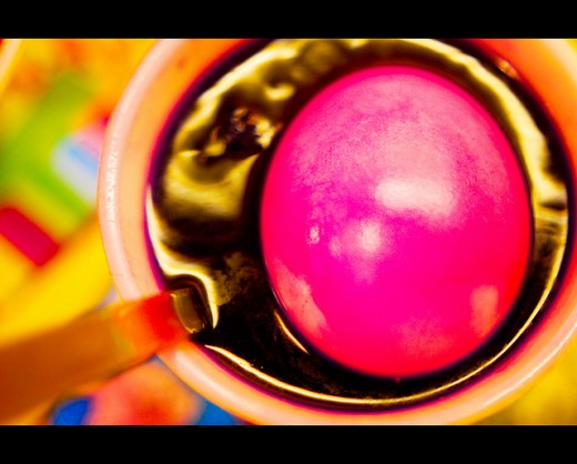You can use commercial dyes or natural dyes to color your Easter eggs once you've blown them.