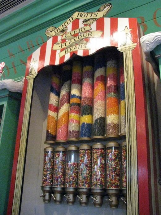 Bertie Bott's Beans at Honeydukes Sweet Shop in Hogsmeade Village