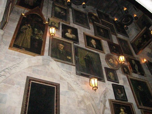 Talking Pictures in the Great Hall of Hogwarts