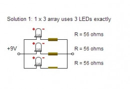 LED Circuit Design - 3 LEDs