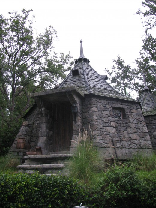 Hagrid's Hut in the Flight of the Hippogriff Rollercoaster