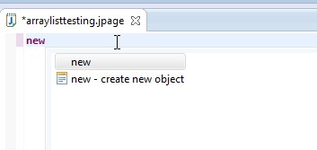 Type new followed by CNTL (control key) and space (pressing the space bar. This bring up the selection.Select create new object.