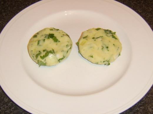 Formed potato cakes