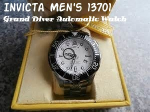 Invicta Men's 13701 Pro Diver Automatic White Textured Dial Gunmetal Ion-Plated Stainless Steel Automatic Watch