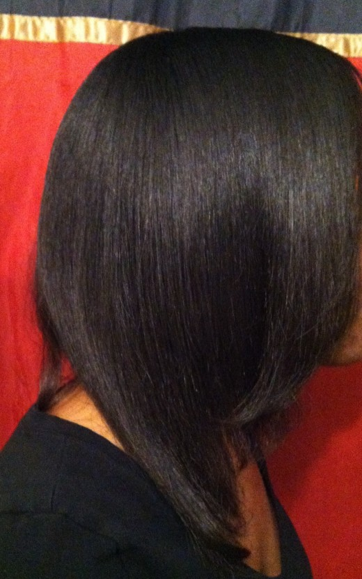Natural hair straightened with Royale