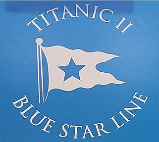 Logo for Titanic II Blue Star Line