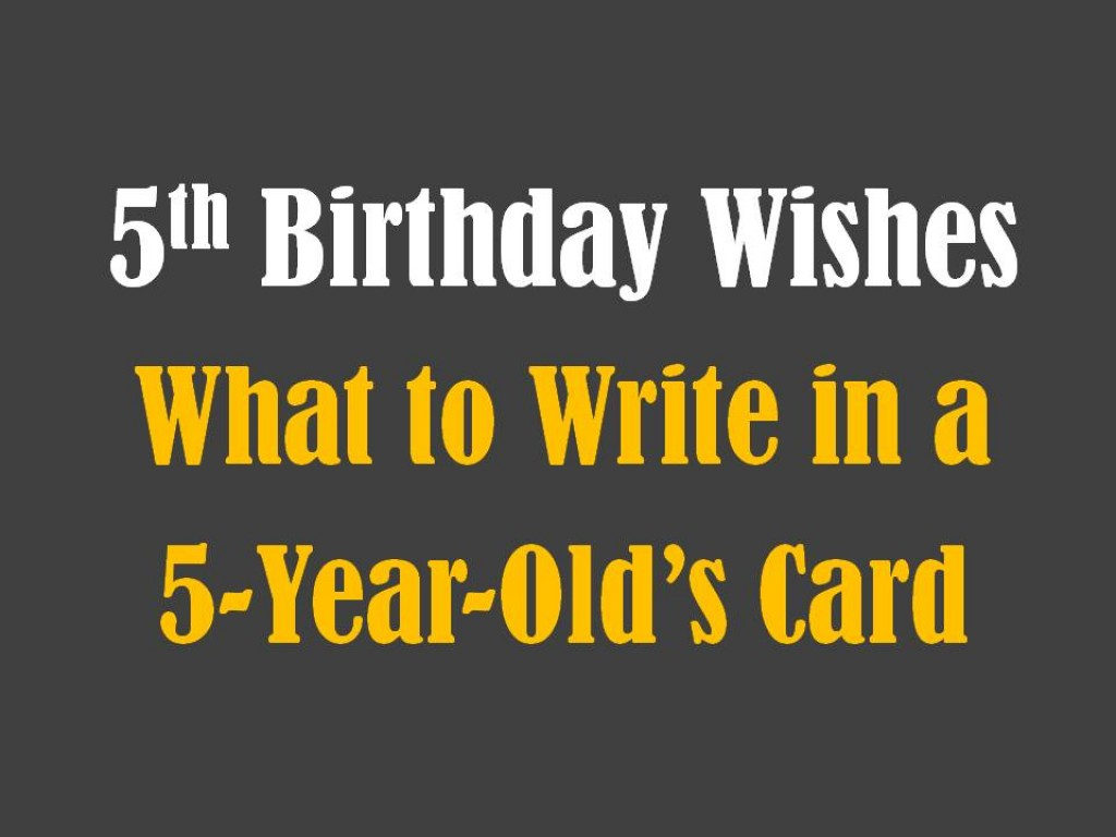 5th Birthday Messages Wishes And Poems