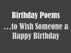 Birthday Poems for Anyone
