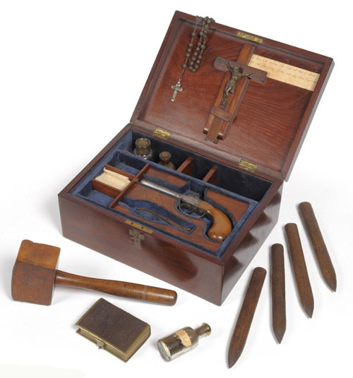 1890 box containing equipment to kill vampires