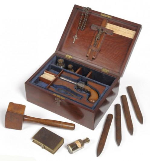 1890 box containing equipment to kill vampires