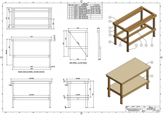 Design plans for workbench