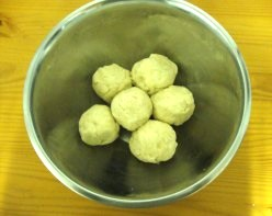 Image: Pie Dough Formed Into Pie Balls Ready for Freezing
