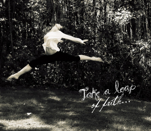 Taking a leap of faith is a liberating experience.