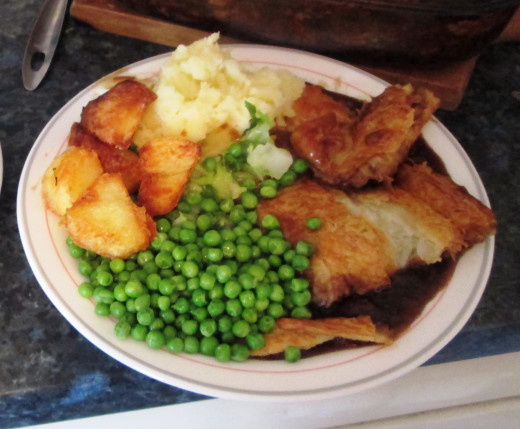 A meal I made with my home grown peas