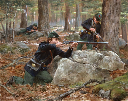 Painting - U.S. Sharpshooters