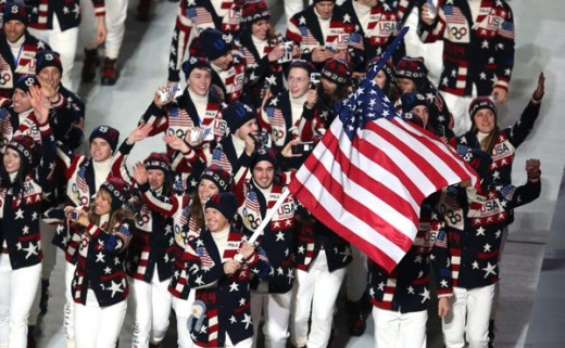 As U.S. Team heads in for the Opening Ceremony, to let the games begin.
