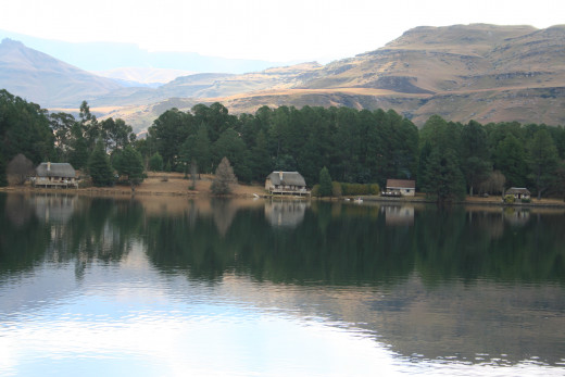 Lake Naverone, A world Heritage site in the Drakensberg
