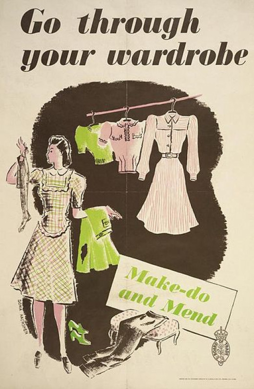 A 1940s British poster...the war may be over, but the battle to cut household costs still goes on.