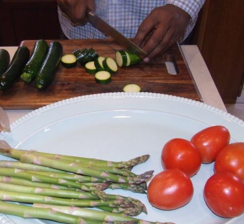 Daniel Ray Chopping Vegetables.